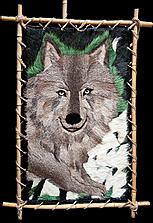 Панно в этно-стиле «Волк»