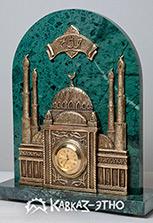 Часы из камня и бронзы «Мечеть»
