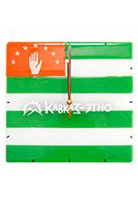 Часы на стену «Флаг Абхазии»