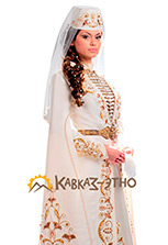 Свадебное осетинское платье