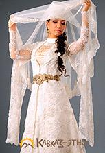 Свадебное кавказское платье