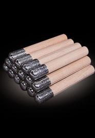 Газыри деревянные с мельхиором