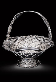 Серебряная ваза для фруктов и конфет «Алмазная»