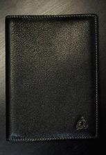 Обложка на паспорт (натуральная кожа) с ингушской символикой, черная
