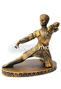Скульптура «Танцор Лезгинки» золотой