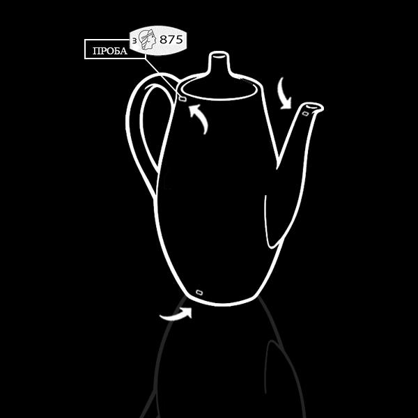 Серебряный кофейник