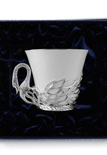 Серебряная чайная чашка «Лебедь»