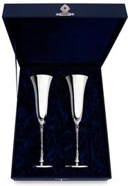 Серебряные фужеры для шампанского «Италия»*