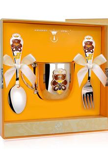 Набор детской серебряной посуды «Мишка»*