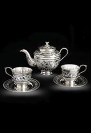 Серебряный набор для чая
