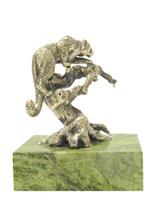 Скульптура «Барс» из бронзы и никеля