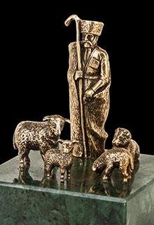 Скульптура «Чабан с овечками»