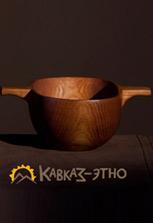 Деревянная чаша в этническом стиле