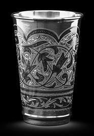 Серебряный стакан «Высокий»