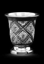 Стопка из серебра с алмазной гравировкой