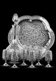 Сервиз водочный из серебра «1001 ночь»
