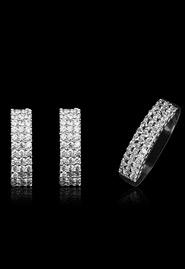 Комплект украшений из серебра «Звездное небо»