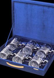 Набор серебряных подстаканников (6 штук)
