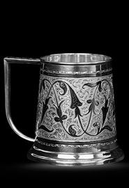 Кружка пивная из кубачинского серебра малая