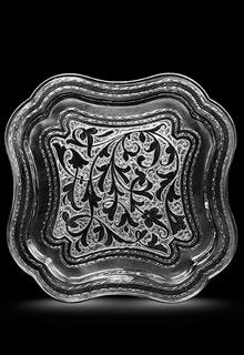 Серебряный поднос «Квадратный»