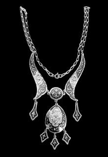 Серебряное кубачинское колье