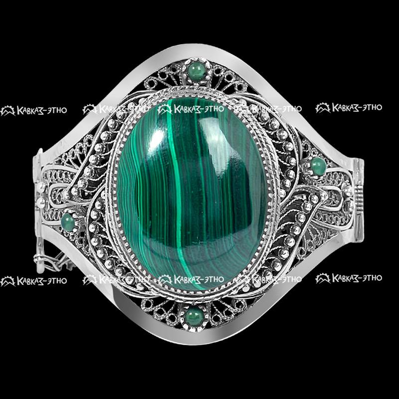 Серебряный кубачинский филигранный браслет