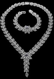 Колье и браслет из серебра «Звезда вечера»