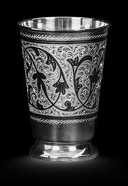 Серебряный стакан «Вьюнок»