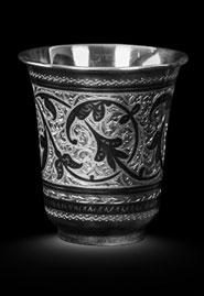 Серебряный стакан «Резной»