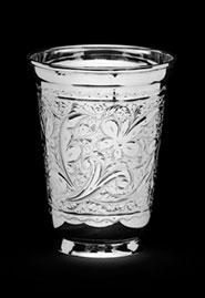 Серебряный стакан «Лепестки»