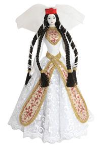 Кукла женская в грузинском национальном костюме