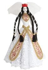 Сувенирная кукла в праздничном грузинском платье