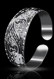 Браслет из серебра без чернения
