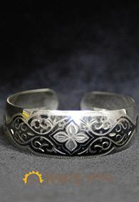 Браслет с орнаментом, серебро