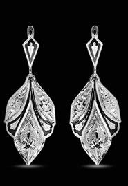 Серебряные серьги «Лист»