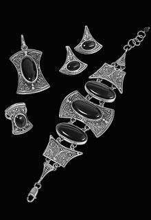 Комплект из серебра «Восхищение»
