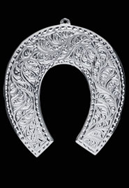Подкова серебряная сувенирная. Кубачи