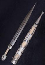 Кинжал серебряный от кубачинских мастеров