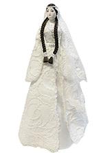 Кукла сувенирная в праздничном чеченском платье