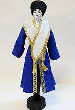 Кукла в синей кавказской черкеске