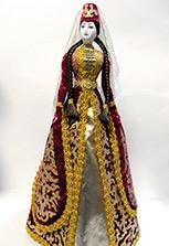 Сувенирная кавказская кукла в осетинском платье