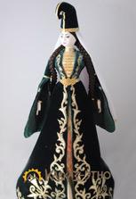 Коллекционная кукла в ингушском костюме