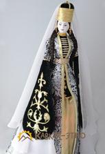 Сувенирная кукла в кабардинском наряде
