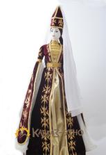 Кукла сувенирная в карачаевском платье