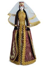 Кукла ручной работы малая в осетинском национальном платье