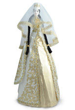 Большая фарфоровая кукла осетинка