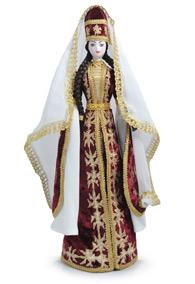 Кукла в кабардинском национальном платье