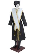 Кукла большая в национальном мужском кавказском костюме