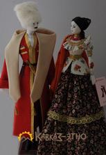 Две куклы в казачьих нарядах