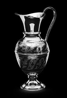 Серебряный кувшин для воды и вина